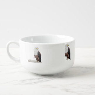American Bald Eagles Soup Bowl With Handle