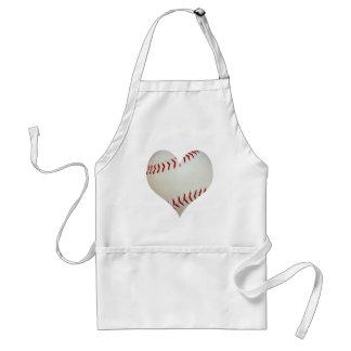 American Baseball In A Heart Shape Standard Apron