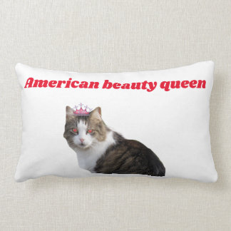 American beauty queen cat pillow