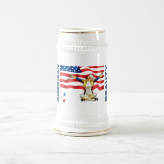 American Beauty. Retro Pin-up Design Gift Beer Mug