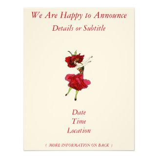 American Beauty Rose Custom Invitations