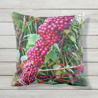 American Beautyberry at Bok Tower Gardens Florida Throw Pillow