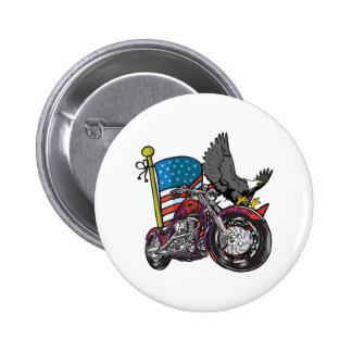 American Biker Eagle 2 Inch Round Button