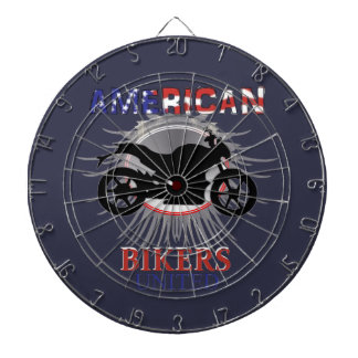 American Bikers United Motorbike Graphic Dart Board
