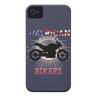 American Bikers United Motorbike Graphic iPhone 4 Case-Mate Cases