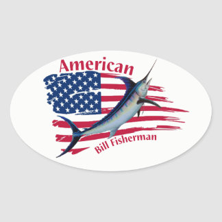american bill fishermen oval sticker
