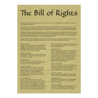 American Bill of Rights Poster
