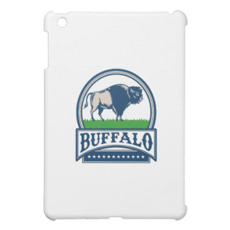 American Bison Buffallo Banner Circle Woodcut Case For The iPad Mini