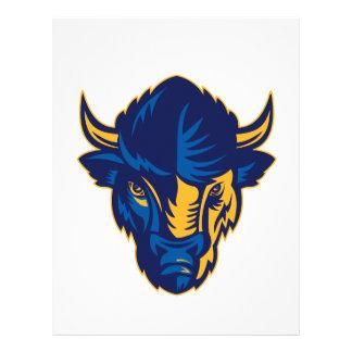 American Bison Head Retro Letterhead