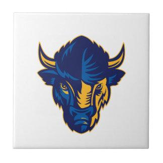 American Bison Head Retro Tile