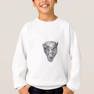 American Bison Head Watercolor Sweatshirt