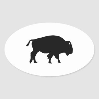 American Bison Icon Oval Sticker