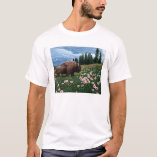 "American Bison - ""No Time For Flowers"" T-Shirt"