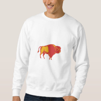 American Bison Side Woodcut Sweatshirt
