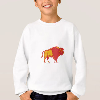 American Bison Side Woodcut Sweatshirt