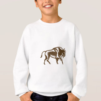 American Bison Woodcut Sweatshirt