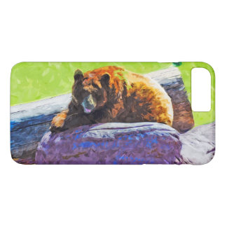 American Black Bear at Rest Abstract Impressionism iPhone 7 Plus Case