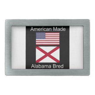 """American Born..Alabama Bred"" Flags and Patriotism Belt Buckle"