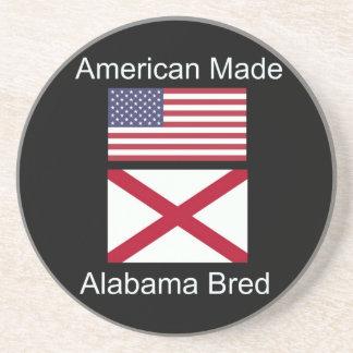 """American Born..Alabama Bred"" Flags and Patriotism Beverage Coaster"