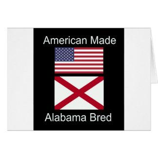 """American Born..Alabama Bred"" Flags and Patriotism Card"