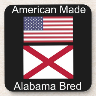 """""""American Born..Alabama Bred"""" Flags and Patriotism Coasters"""