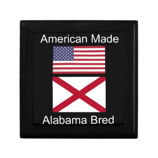 """""""American Born..Alabama Bred"""" Flags and Patriotism Gift Box"""