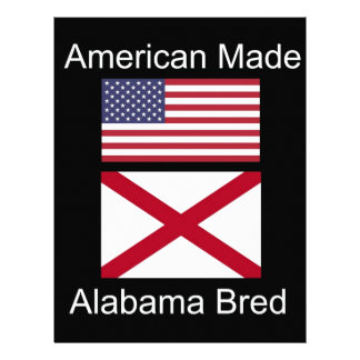 """""""American Born..Alabama Bred"""" Flags and Patriotism Letterhead Template"""