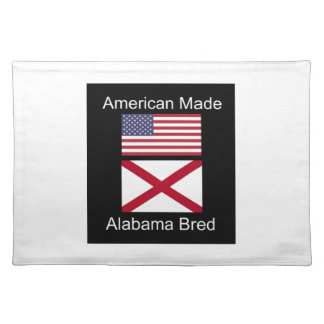 """American Born..Alabama Bred"" Flags and Patriotism Placemat"
