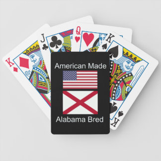 """American Born..Alabama Bred"" Flags and Patriotism Poker Deck"