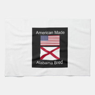 """American Born..Alabama Bred"" Flags and Patriotism Towels"