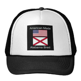 """American Born..Alabama Bred"" Flags and Patriotism Trucker Hat"