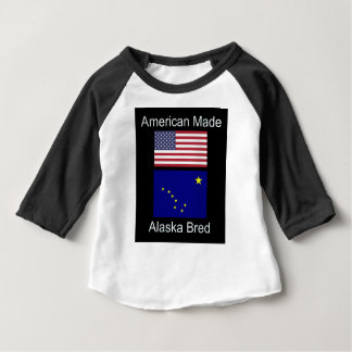 """American Born..Alaska Bred"" Flags and Patriotism Baby T-Shirt"