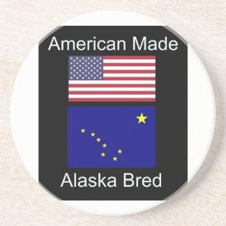 """American Born..Alaska Bred"" Flags and Patriotism Beverage Coasters"