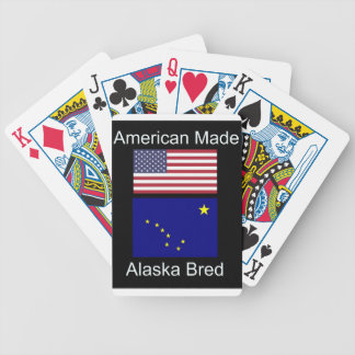 """American Born..Alaska Bred"" Flags and Patriotism Bicycle Playing Cards"