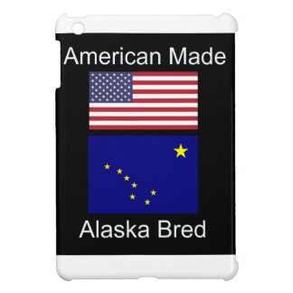 """American Born..Alaska Bred"" Flags and Patriotism Case For The iPad Mini"
