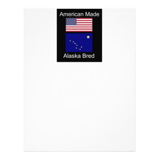 """American Born..Alaska Bred"" Flags and Patriotism Customized Letterhead"
