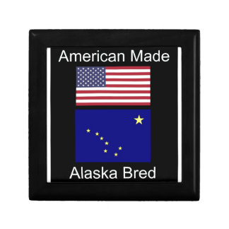 """American Born..Alaska Bred"" Flags and Patriotism Gift Box"