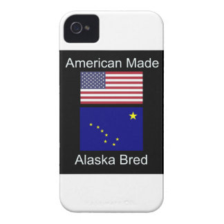 """American Born..Alaska Bred"" Flags and Patriotism iPhone 4 Covers"