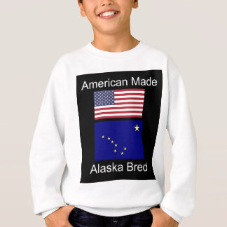 """American Born..Alaska Bred"" Flags and Patriotism Sweatshirt"