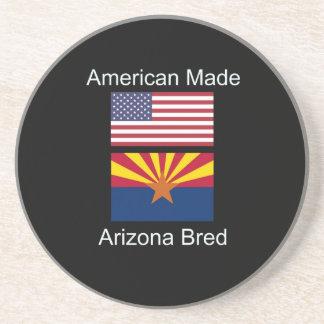 """American Born..Arizona Bred"" Flags and Patriotism Drink Coasters"