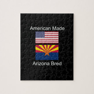 """American Born..Arizona Bred"" Flags and Patriotism Jigsaw Puzzle"
