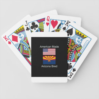 """American Born..Arizona Bred"" Flags and Patriotism Poker Deck"