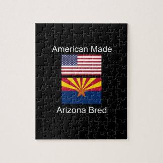 """American Born..Arizona Bred"" Flags and Patriotism Puzzles"