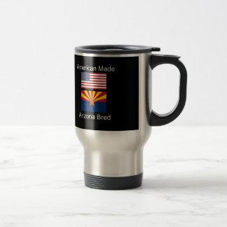 """American Born..Arizona Bred"" Flags and Patriotism Travel Mug"
