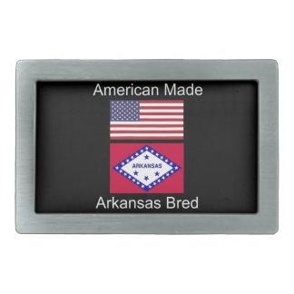 """""""American Born..Arkansas Bred"""" Flag Design Belt Buckles"""