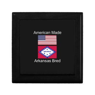 """""""American Born..Arkansas Bred"""" Flag Design Gift Box"""
