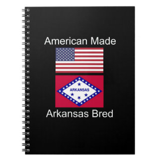 """American Born..Arkansas Bred"" Flag Design Notebook"