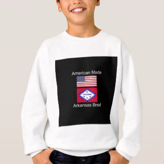 """American Born..Arkansas Bred"" Flag Design Sweatshirt"