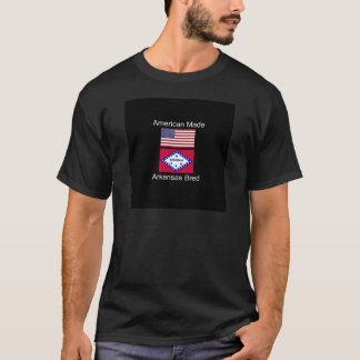"""American Born..Arkansas Bred"" Flag Design T-Shirt"