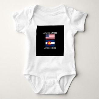 """American Born..Colorado Bred"" Flag Design Baby Bodysuit"